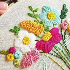 Awesome Most Popular Embroidery Patterns Ideas. Most Popular Embroidery Patterns Ideas. Hand Embroidery Stitches, Crewel Embroidery, Hand Embroidery Designs, Ribbon Embroidery, Cross Stitch Embroidery, Hand Stitching, Floral Embroidery, Knitting Stitches, Diy Broderie