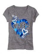 I Heart Kentucky Wildcats V - Neck