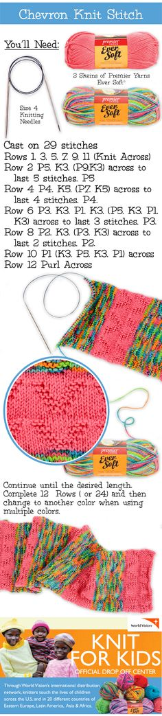 Let us show you how to use a single stitch to create an entire project! Soon you'll be donating what you made to #KnitforKids at your local #ACMoore! #knit