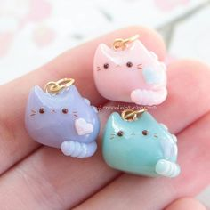Hello! Heres some pusheen charms that I sold like a week ago. I was thinking of making more pusheens for my shop before christmas so you guys can buy them for christmas gifts. I'm also going to start posting Christmas charms soon so get ready for that! Anyways thanks for sticking around :D