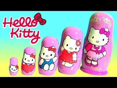 a6132cb53 Hello Kitty Nesting Toys Surprise Matryoshka Dolls Stacking Cups by Funtoys  Disney Toy Review