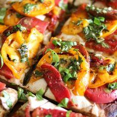Almond Flour Pizza Crust (+ Caprese Pizza with Chimichurri Sauce)