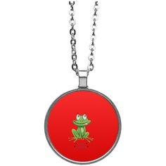 Frogurt Circle Necklace- Frog