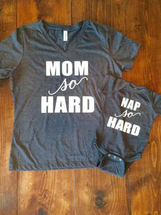 Mom So Hard Graphic Tee Nap So Hard ONESIE® by CutsAndCreations
