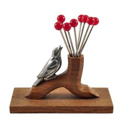 Art Deco French Bird Cocktail Pick Set, The Hour Shop Barware ~ TheHourShop.com ~ curated goods for the modern home bar.