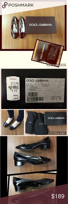 Dolce & Gabbana Decollete Vernice shoes❤️ Dolce & Gabbana Decollete Vernice shoes❤️Made in Italy. size 6 1/2 Wore gently, and kept in the cloth and in the box. sides have no scratches however slight signs of wear in the front of one of the shoes and bottom (shown in the picture) can't really tell. the original price is $500 but I got it $250 + tax at Neiman Marcus. such a cute style☺️ comes with cloths and box. Dolce & Gabbana Shoes