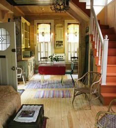 tiny and cute cottage interior