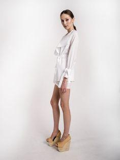 MUSA - white cotton shirt S/S 2015