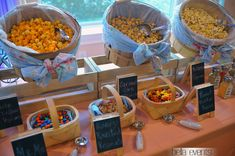snack tables for weddings | Outdoor Ceremony www.rusticevents.com