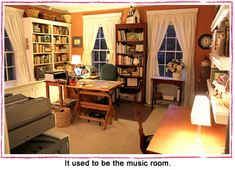 My Studio  ~  Author Susan Branch  describes (and shares photos of) her creativity space.