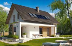 Projekty domów ARCHIPELAG - Liv 1 Leca® DOM Carriage House Plans, Dream House Plans, Contener House, House Roof Design, Design Case, Cabana, Home Fashion, Ideal Home, Future House