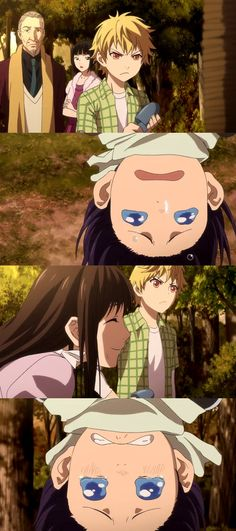 Awww, poor Yato! He just wanted to be with Hiyori while she was in school