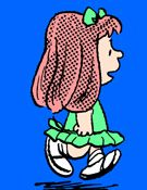 Emily first appeared on February 11, 1995 where she asks Charlie Brown to dance with her at an afternoon dance class. In February 16, 1995 Charlie Brown's dance teacher tells him that there is nobody called Emily in the class. The strip from February 17, 1995 shows Charlie Brown thinking that he is dancing with Emily but actually dancing by himself. Emily is a figment of imagination. Emily appeared in two more strips in 1996 and 1999, but on those occasions Snoopy is able to see her too.