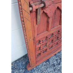 1970s Vintage Moroccan Burgundy Door | Chairish Moroccan Doors, Moroccan Garden, Door Gate, Led Chandelier, Burgundy Color, Marrakech, Shutters, Mosaic Tiles, Accent Pieces