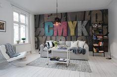 Hey, look at this wallpaper from Rebel Walls, Woodcut, CMYK! #rebelwalls #wallpaper #wallmurals