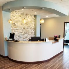 Crisp Clean Chiropractic Design #reception #design