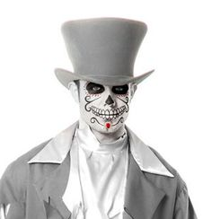Makeup for the ghostly gent?