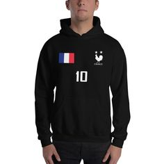 <transcy>Frankrijk Voetbal Jersey Stijl Hoody Unisex</transcy>