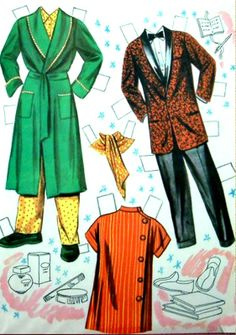 Dinah Shore & George Montgomery free paper dolls The International Paper Doll Society from Arielle Gabriel