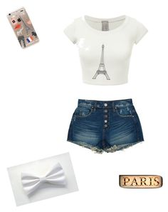 """Paris"" by djphantomorchid on Polyvore featuring Rifle Paper Co, BLANKNYC and DOMESTIC"