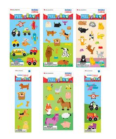 Another great find on #zulily! Animal Reusable Sticker Set by Mrs. Grossman's #zulilyfinds