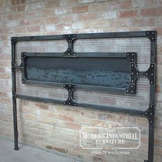 Create a sleek appearance in your bedroom with this Modern Industrial original design. This platform bed with its heavy steel construction is built for strength and style. Cama Industrial, Modern Industrial Furniture, Industrial House, Industrial Interiors, Industrial Style, Industrial Design, Steel Metal, Wood And Metal, Metal Work