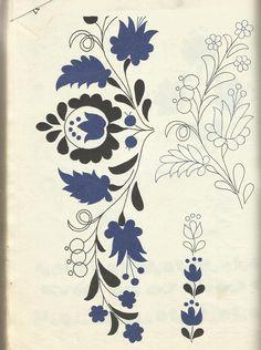 Korai kalocsai hímzések 6 - These are great, Kim! Hungarian Embroidery, Silk Ribbon Embroidery, Crewel Embroidery, Cross Stitch Embroidery, Machine Embroidery, Embroidery Designs, Folk Art Flowers, Flower Art, Scandinavian Folk Art