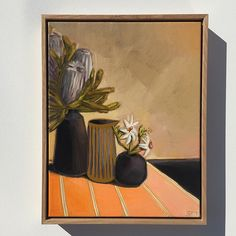 See all Sams Still Life paintings Australian Art, Painting Inspiration, Interior Styling, Still Life, Nativity, Oil On Canvas, Watercolor, Flannel, Nature