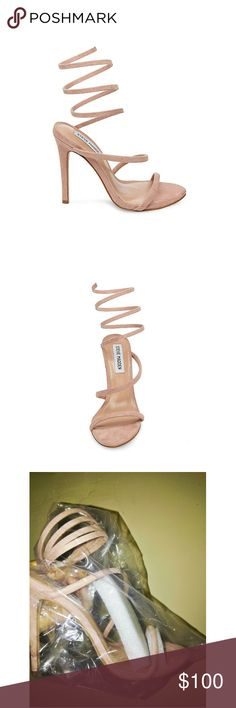 NEW STEVE MADDEN HEELS Brand New in box Steve Madden Tiffany Sandals Blush Color Ankle strap They run a half size smaller. Will fit a sz 9 & 10.5 Steve Madden Shoes Heels