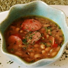 Black-eyed pea and sausage soup by MamaSteph