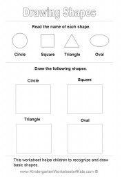 Basic Shapes Worksheets