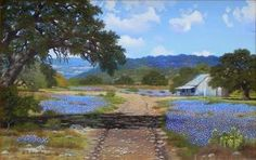 W A Slaughter 1923 2003 Springtime In Wimberly Tx - Southwest Gallery: Not Just Southwest Art.