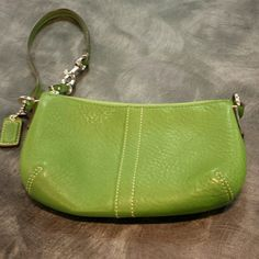 Coach wristlet Green leather Coach Bags Clutches & Wristlets