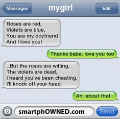 boyfriend text messages, funni text, love text messages, love texts messages, roses are red violets are blue, funny text messages fails, funny text messages boyfriend, busted funny texts, funny cheating texts