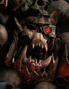 Sculpture Art, Sculptures, Orks 40k, Warhammer 40k Art, The Grim, Space Marine, Fantastic Art, Toolbox, Oeuvre D'art
