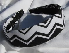 Black And White Chevron Striped Headband by shirkdesigns on Etsy (Accessories, Hair Accessories, Headbands, headwrap, chic, girl, rock, headband, black and white, chevron striped, chevron headband, striped headband, rock headband, trendy headband)