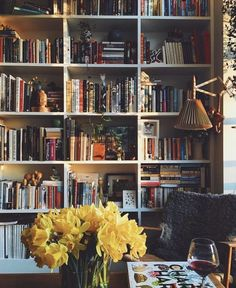 Styling a packed bookcase