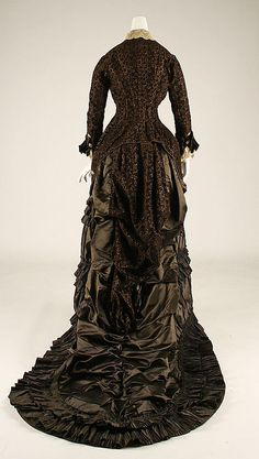 Wedding dress Date: 1879 Culture: French Medium: silk Accession Number: C.I.50.7a, b