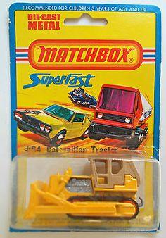 1979 Lesney Matchbox Superfast Farm #64 CATERPILLER TRACTOR Orange Rollers; MOMC - http://www.matchbox-lesney.com/37485