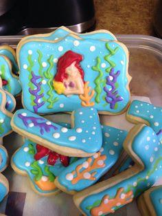 Little Mermaid Sugar cookies