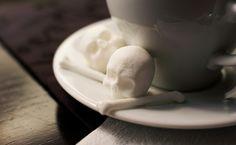 "Juxtapoz Magazine - Skull & Crossbones Sugar ""Cubes"" by Snow Violet  https://www.etsy.com/shop/dembones?section_id=10423740"