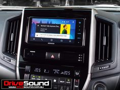 Toyota 200 Series Land Cruiser with Android Auto installed by DriveSound.
