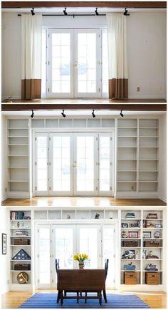 Home Remodeling Living Room Bookshelves Ideas Home Renovation, Home Remodeling, Bedroom Remodeling, Kitchen Renovations, Cheap Home Decor, Diy Home Decor, Built In Bookcase, Bookshelf Styling, Bookcases