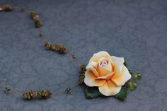 The rose made from Polymer Clay