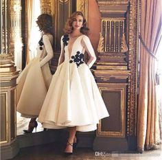 85c3bc15fe 2017 Couture Ivory Cocktail Dresses Evening Gowns Long Sleeve Tea-Length  Sexy Formal Dubai Kaftan Party Dress for Women Plus Size Z-40 Cocktail  Dresses ...