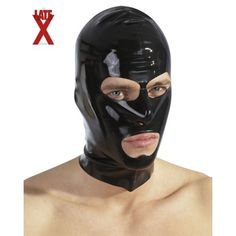 Latex Fetish Germany Men's Hood 3 Openenings Black One Size Body Dessous, Dessous Shop, Unisex, Swatch, Sexy Bh, Latex Hood, Bh Set, Save The Queen, Catsuit