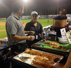 The coffee & cannoli cart makes an appearance during the late innings of the game. For German Night, we switch the cannoli's for some strudel