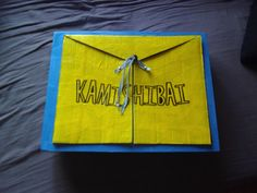 Kamishibai in cardboard. Website has instructions.