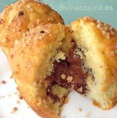 Para elaborar estos muffins de Nocilla o Nutella para 12 personas necesitaremos 250 gr de harina de repostería tipo Yolanda con levadura integrada (si usas harina normal añade un sobre de levadura)