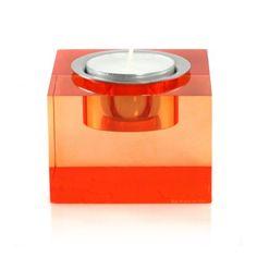 $5 - Block Cube Tea-Light Holder, Orange (amazon)